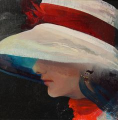 Ladies with Hats by  Ton Dubbeldam