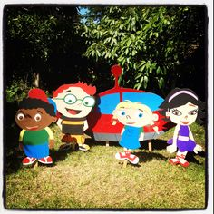 {DIY} Little Einsteins Characters.  Photo backdrop