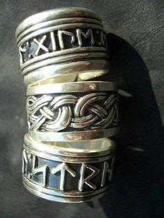 Rings, knotwork and runes Norse Pagan, Norse Symbols, Norse Mythology, Norse Runes, Viking Garb, Viking Warrior, Viking Jewelry, Viking Rings, Nordic Vikings