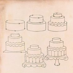 How to draw a gateau, from Doodling in French by Anna Corba