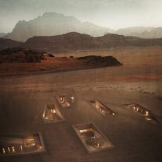 Preserving the natural beauty of a UNESCO-protected valley in the Jordanian desert, this underground architectural complex is designed burrow and branch out beneath the surface. This conceptual pro…