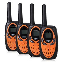 Floureon 22 Channel FRS/GMRS 2 Way Radio 2 Miles (Up to 3 Miles) UHF Handheld Walkie Talkie (Pack of 4, Black Orange). For product info go to:  https://all4hiking.com/products/floureon-22-channel-frsgmrs-2-way-radio-2-miles-up-to-3-miles-uhf-handheld-walkie-talkie-pack-of-4-black-orange/