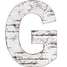 Weathered Letter Wall Decor - G