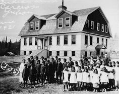 1996- The year that the last residential school closed. They began to shut down in the 1950s, however it was not until 2008 that Prime Minister Stephen Harper apologized to those affected (class notes, 2018, ch. 5). Photo: Choutla school [photograph]. (1921). Retrieved from http://www.ammsa.com/publications/windspeaker/residential-school-victims-footprints