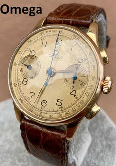 Auth Omega Watch Vintage Omega Watch Vintage Rare Chronograph Rose Gold Auth Omega Watch Vintage Omega Watch Vintage Rare image 2 Retro Watches, Vintage Watches, Watches For Men, Luxury Watches, Rolex Watches, Beautiful Watches, Watch Bands, Chronograph, Hd Group