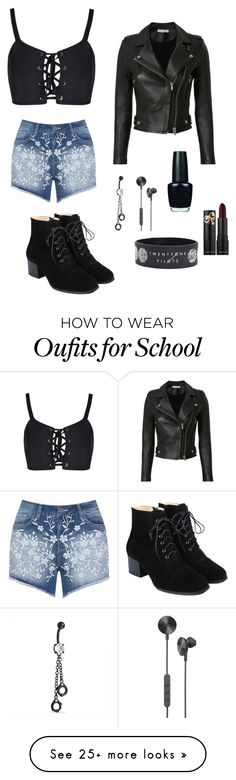 """""""Untitled #261"""" by princessone4ever on Polyvore featuring Mat, IRO, Bling Jewelry, i.am+, OPI and Hot Topic"""