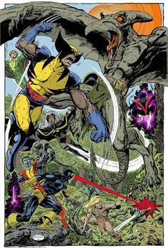 X-men vs Sauron by John Byrne Hq Marvel, Marvel Comics Art, Marvel Comic Books, Fun Comics, Marvel Heroes, Comic Books Art, Superhero Characters, Comic Book Characters, Comic Character