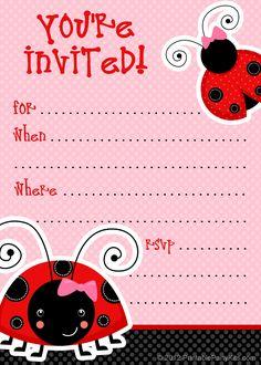 1) Free Printable Ladybug Invitation Blank Template.  2) Beautiful Printable Ladybug Party Invitation.  3) Elegant Handmade Ladybug…