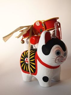 Japanese traditional toy 会津 張子の犬