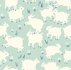 The Homestead fabric collection is the fifth collection of organic children's fabric designed for Birch Fabric. This collection features animals and scenery found. Pretty Patterns, Beautiful Patterns, Motifs Animal, Textile Patterns, Textiles, Pattern Illustration, Stuffed Animal Patterns, Surface Pattern Design, Fabric Design