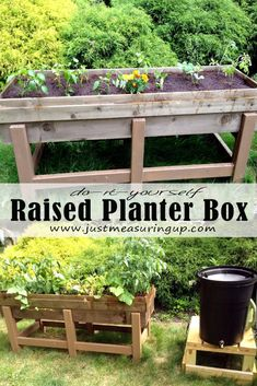 How to Build a DIY Planter Box for the Garden - Tutorial