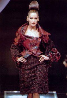 Carla Bruni, Christian Dior by Gianfranco Ferre F/W 1995 Haute Couture