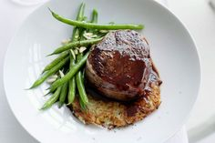 Beef Fillet On Potato Rosti With Red Wine Jus Recipe - Taste.com.au