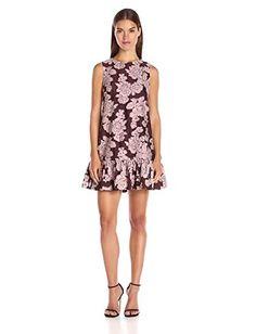 b22ec2c7a7 Cynthia Rowley Women s Oversized Sleeveless Dress with Bottom Ruffle