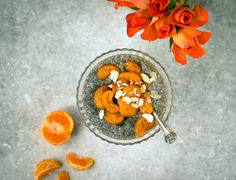 Chia Seed Pudding with Poached Clementines