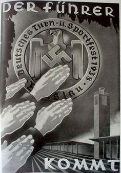The Fuhrer comes Nazi Propaganda, Luftwaffe, World History, History Online, Ww2 Posters, World War Two, Wwii, Retro, Poster Prints