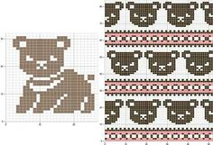 Most current Photos knitting charts bear Style 42 Super Ideas Knitting Charts Bear Filet Crochet Filet Crochet, Crochet Chart, Crochet Patterns, Knitting Bear, Intarsia Knitting, Fair Isle Knitting Patterns, Knitting Charts, Beginner Knitting, Knitting Kits