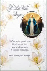 Deepest sympathy cards and mass cards depicting the apparitions, Jesus the Good Shepherd, Sacred Heart of Jesus, Sacred Heart of Mary and St Joseph to name a few.