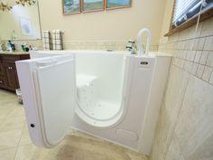 Oversized Tub - Handicap Accessible - Wlak-in Bathtub - Grab Bars - Universal Design - Aging in Place Design - Durabath Surround - Bathroom Remodel -