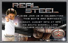 Real Steel Birthday Party Invitation