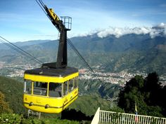 Venezuela - The Mérida Cable Car (Spanish: Teleférico de Mérida) is a cable car in Venezuela. Its base is located in the Venezuelan city of Mérida at an altitude of 1,640 metres (5,380 ft), and its terminus is on Pico Espejo, at 4,765 metres (15,633 ft). It is the highest and second longest (12.5 km) cable car in the world for just 500 meters, but is in first place for being the only one which combines such height and length.
