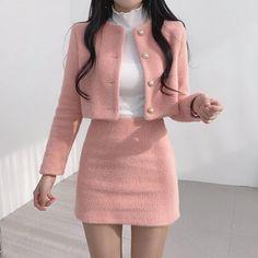 Korean Fashion Dress, Kpop Fashion Outfits, Girls Fashion Clothes, Mode Outfits, Girly Outfits, Cute Casual Outfits, Pretty Outfits, Stylish Outfits, Vintage Outfits
