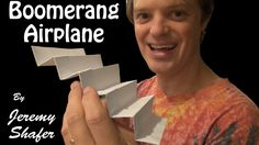 Super Boomerang Airplane - pretty easy to make. All you need is a piece of printer paper.