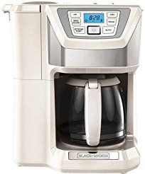 Christmas deals week 12-Cup Mill and Brew Programmable Coffee Maker With Grinder White