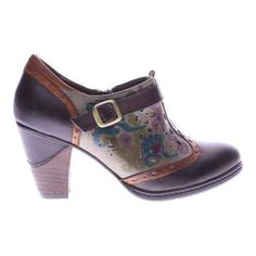 Women's L'Artiste by Spring Step Miso Bootie Dark Brown Multi Leather
