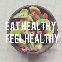 Eat Healthy, Feel Healthy  Like this pin? Follow me for more @rosajoevannoy!