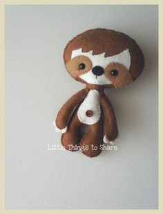 Little Sloth-PDF pattern-Baby Sloth-DIY por LittleThingsToShare