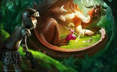 Les digital paintings attachants de Silly beast illustration aka Therese Larsson