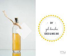 Gel douche maison à l'huile de COCO & MIEL!!! Un gel lavant pour le corps et le visage, simple, très nourrissant et incroyablement aromatique … au miel !! Nous adorons cette recette qui laisse la peau douce et parfumée !! Ingrédients : 60 ml de miel bio + 60 ml d'huile de coco bio + 20 ml de base moussante végétale + 100 ml de base lavante neutre + 1 cuillère à café de vitamine E + 20 gouttes d'huile essentielle de citron + 15 gouttes d'huile essentielle d'orange douce.