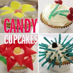 Use store-bought candy and a pair of scissors to create these flower-topped treats that are fit for a garden party!