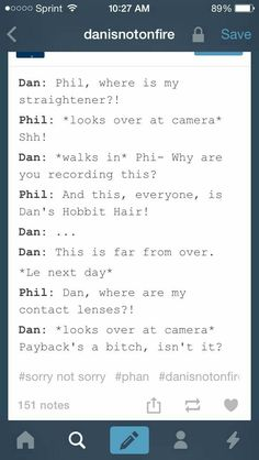 Dan, Phil, messages, dialogue, funny; Dan and Phil