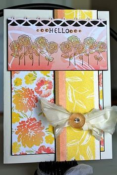 unity stamp company. kit used - Best Wishes and Blooms - card created by unity design team member Christi Snow