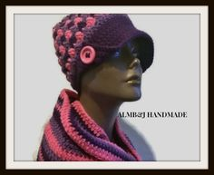 Vintage Style Crochet Hat  and Infinity Scarf  by ALMBandJHANDMADE