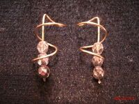 How to make a pair of wire earrings. Earrings - Step 10