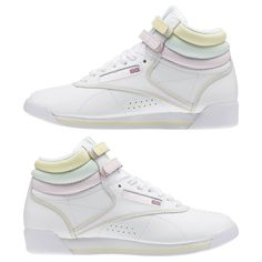 f1bebb7ecd0 Reebok Shoes Women s Freestyle Hi x GLOW in White Glow Pink Size 7.5 -  Lifestyle Shoes