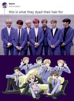 Bts Bangtan Boy, Bts Boys, Jimin, Seokjin, Namjoon, Taehyung, Arte Van Gogh, Ouran Host Club, Ouran Highschool