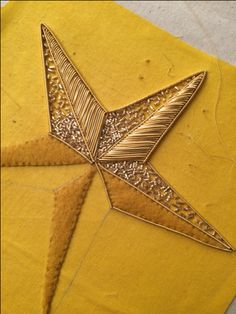 Round Up from the London Embroidery School's Christmas Star Goldwork Workshop