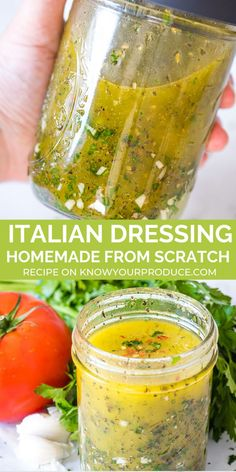 Skip the store-bought dressing and make your own Italian Salad Dressing recipe at home from scratch! This recipe is completely homemade and it's perfect for salads, pasta salads, marinating veggies or even dipping bread. Source by KnowYourProduce dressing Italian Dressing Recipes, Salad Dressing Recipes, Pasta Salad Recipes, Italian Vinaigrette Dressing Recipe, Salad Dressing Homemade, Homemade Salad Dressings, Homemade Pasta Salad, Vinegar And Oil Salad Dressing Recipe, Italian Salad Dressings