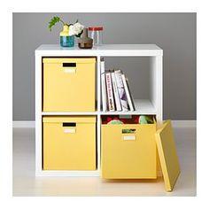 TJENA Kasten mit Deckel - gelb, 32x35x32 cm - IKEA