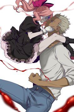 Aligura and Dog Hummer - Sensen , [post_tags Comic Manga, Anime Manga, Anime Art, Anime Guys Shirtless, Blood Blockade Battlefront, Real Anime, Air Gear, Black Characters, Character