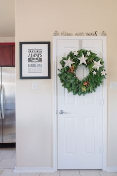 I love these words over a door in the kitchen. I also like that print. Living With Kids: Candice Stringham