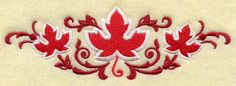 Canada Swirls Embroidered Flour Sack Hand by EmbroideryEverywhere