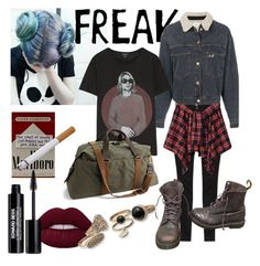 """""""she is freak"""" by larisadoodler on Polyvore featuring Étoile Isabel Marant, R13, J.Crew, Edward Bess and Dr. Martens"""