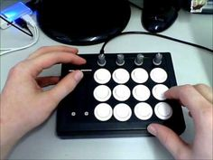 Arduino controlled, arcade button dj MIDI controller for effects and samples.