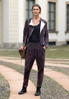 Street Style: Milan Fashion Week Spring 2014  - HarpersBAZAAR.com