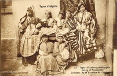 Portraits des juifs d'Algérie 23 Types Ecolieres mauresgues Costumes